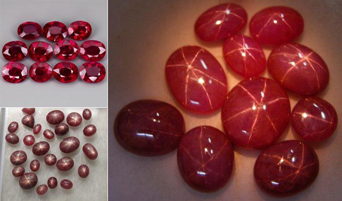 đá sao ruby tự nhiên